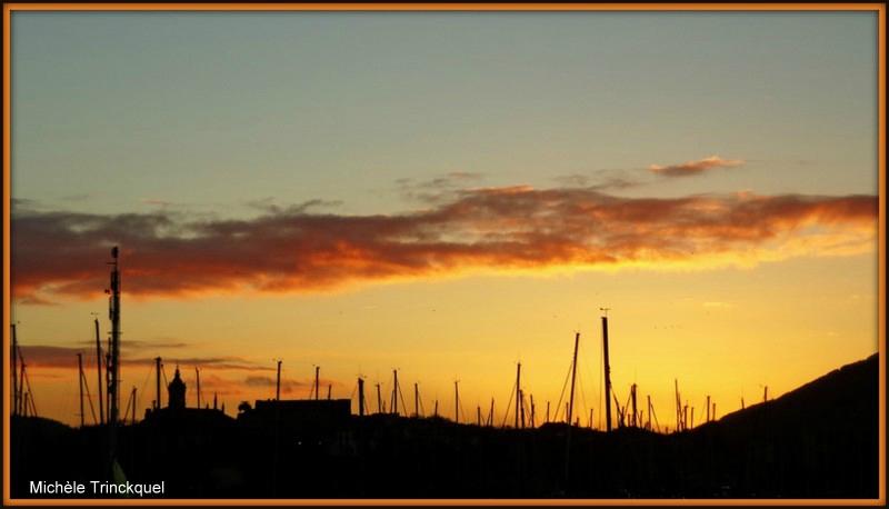 Coucher de soleil sur Fontarrabie