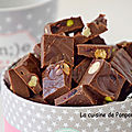Fudge au chocolat et fruits secs