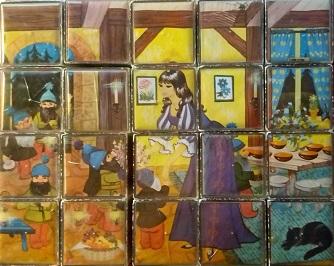 Puzzle gros cubes Blanche Neige et les 7 nains