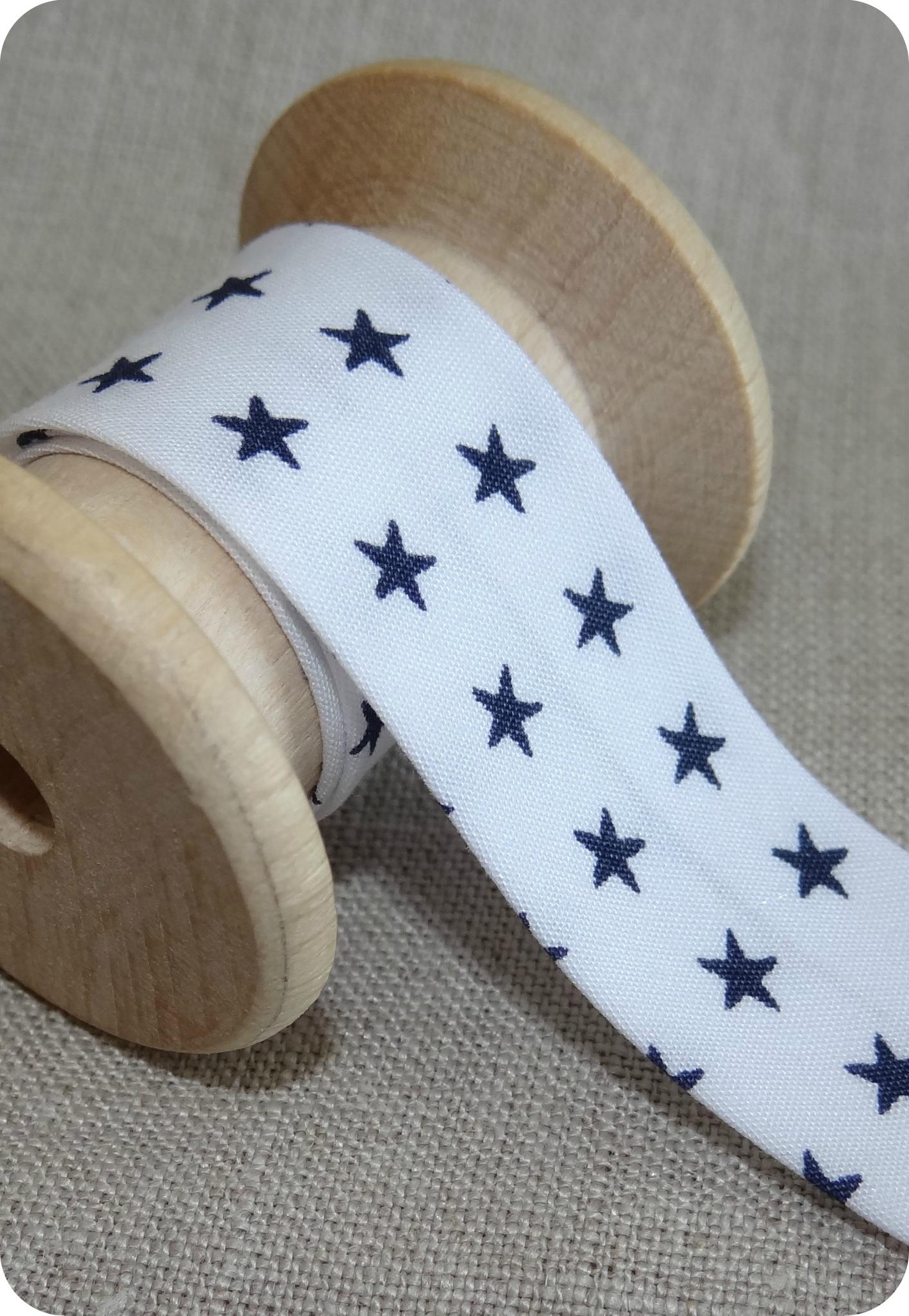 Biais France Duval blanc et étoiles bleues
