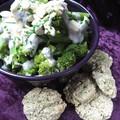 Sala de brocolis et galettes d'avoine