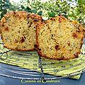 Cake aux courgettes grillées, tomates confites et chorizo fort