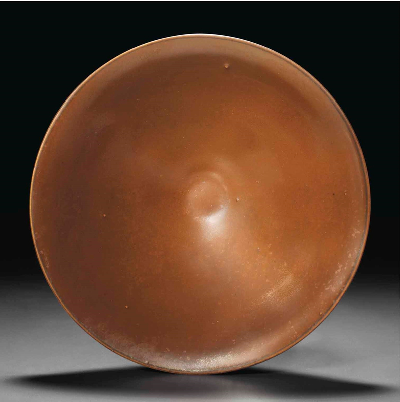 A Yaozhou persimmon-glazed conical bowl, Northern Song Dynasty (960-1127) (2)