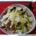 Salade d'asperges des landes facon cesar