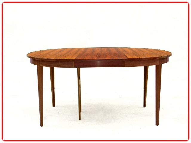 table ronde vintage palissandre 1960