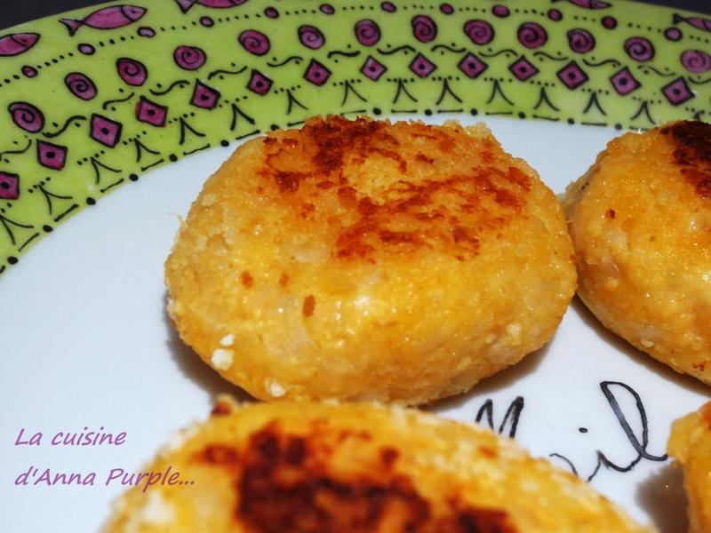 Boulettes de pommes de terre merlan vache qui rit et ketchup bis - LA CUISINE DANNA PURPLE