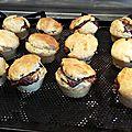 Muffins au nutella et mascarpone