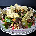 Salade d'automne aux gésiers de canard confits