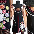 Robe trapèze fantaisie et originale .... la tendance mode du printemps été 2014 !