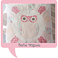 Coussin Patchwork Hibou
