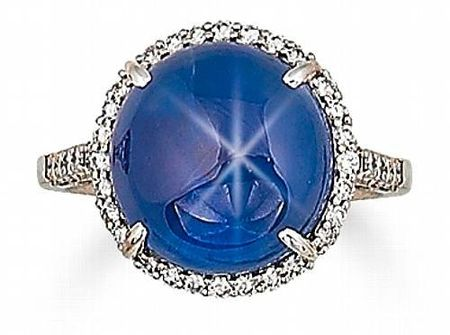 A_star_sapphire_and_diamond_ring