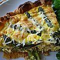 Quiche au saumon frais & aux asperges vertes