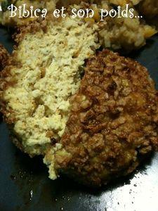 Boulettes de poulet épicées & corn flakes coupe