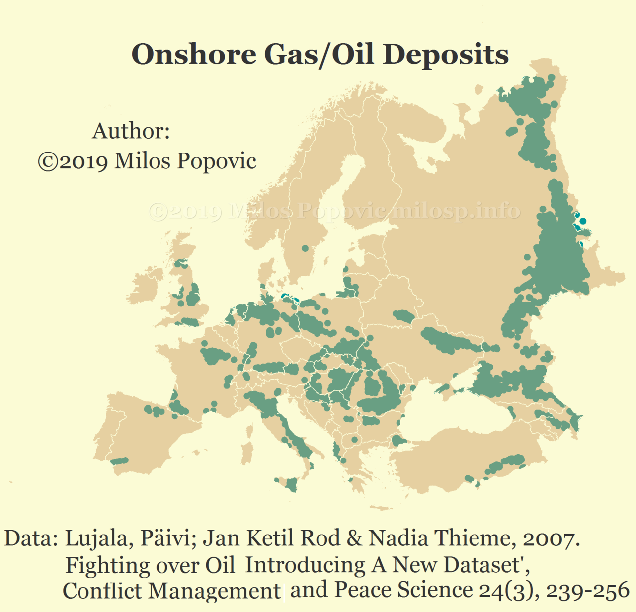 Europe's natural gas oil deposits