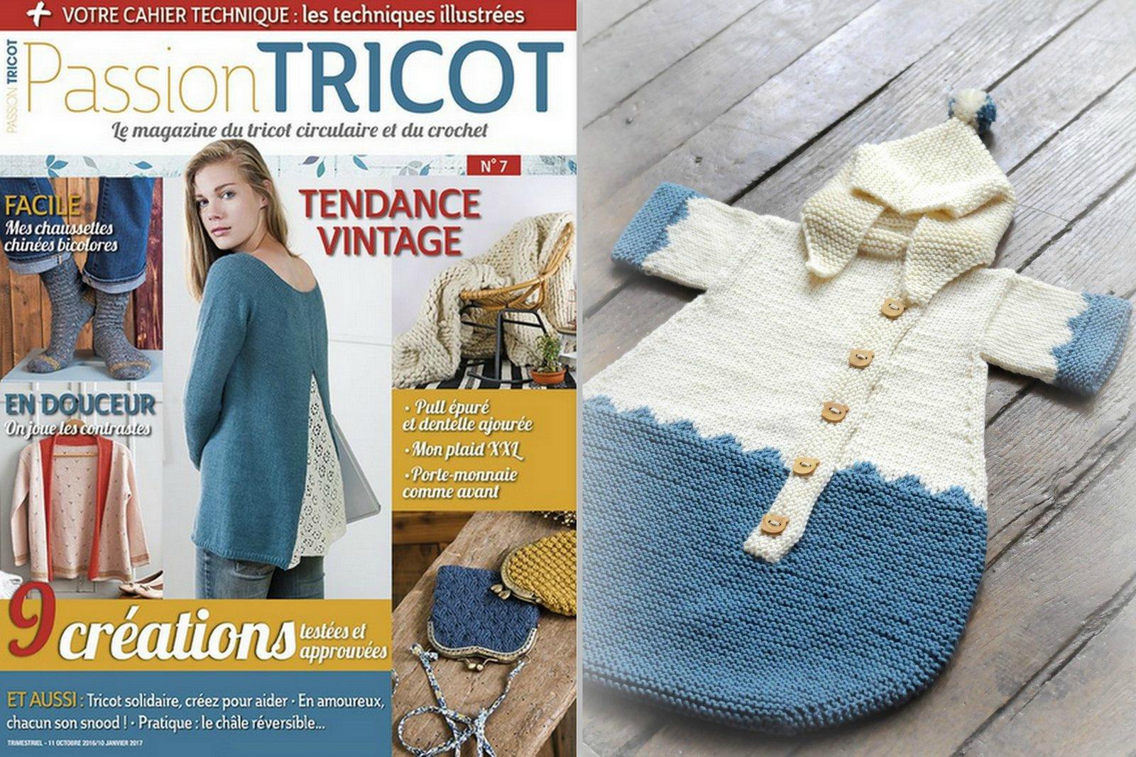 Passion tricot n°7 est disponilble en kiosque et chez votre marchand de  journaux depuis la 10 octobre - c est un trimestriel ! bbdd1bd6213