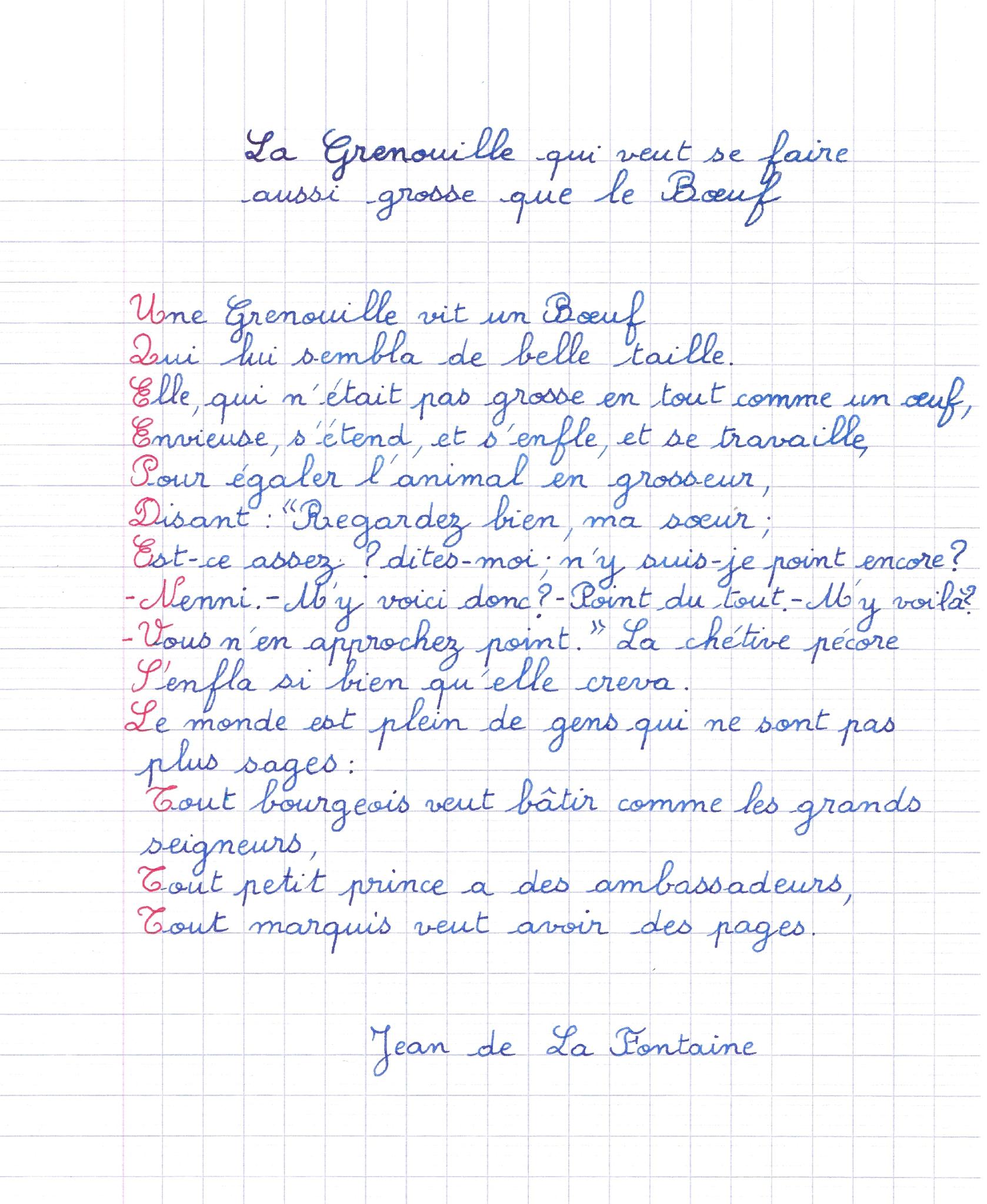 Poème De Jean De La Fontaine La Grenouille Qui Veut Se