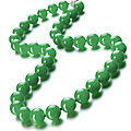 Jadeite bead and diamond necklace