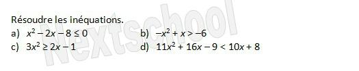 premiere second degre signe inequation 4 2