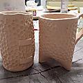 Le vendredi c'est poterie ! : tasses