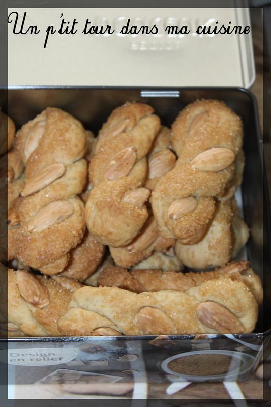 Biscuits tresses amandes fleur d'oranger