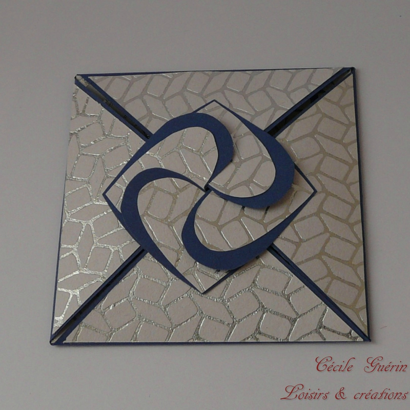 Carte coeurs entrelacés bleue fermée - blog