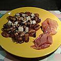 Gnocchi à l'oignon caramélisé, truffe et gorgonzola