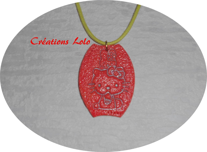 183-2 - Pendentif Hello Kitty orange
