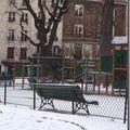 Mouffetard, sous la neige