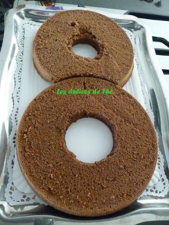 Anniversaire forme 8 génoise chocolat+mousse chocolat (3)