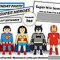 La fête des super héros