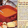 Carte postale recette : soupe de poissons