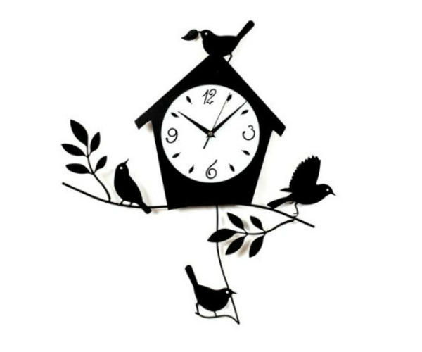 Birds and Bird House Wall clock