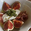Figues, parme, burrata