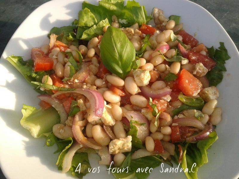 Salade d'haricot blanc