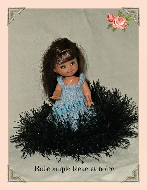 robe ample bleue et noire (shelly)