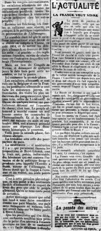 XiX siècle 01 01 1918-2