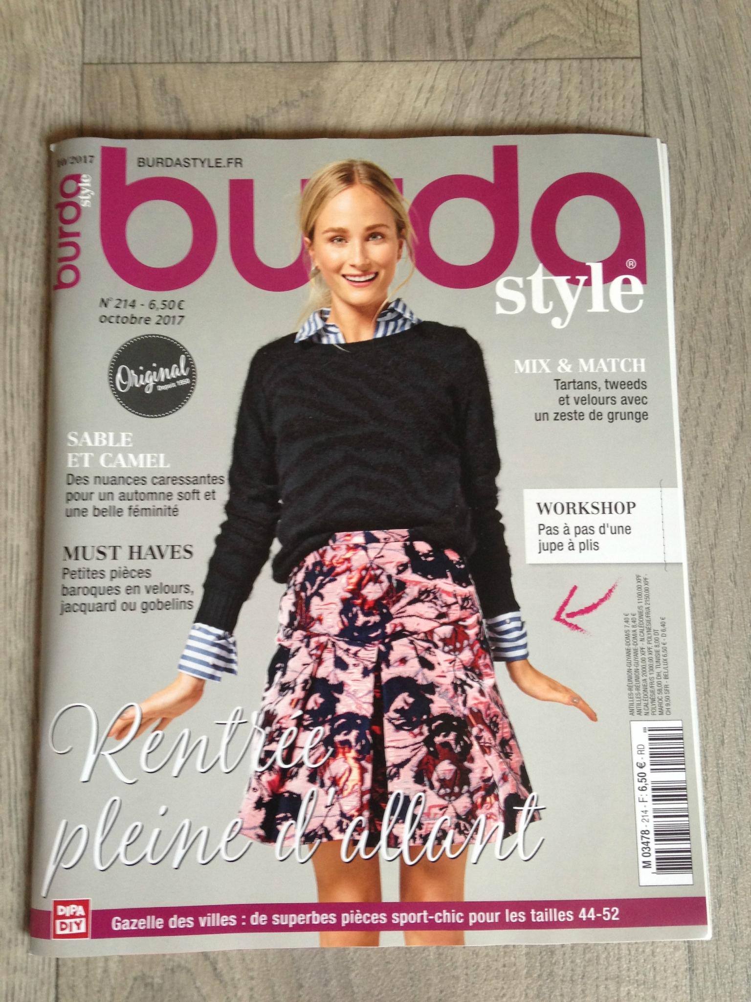 Burda tendance mode octobre 2017