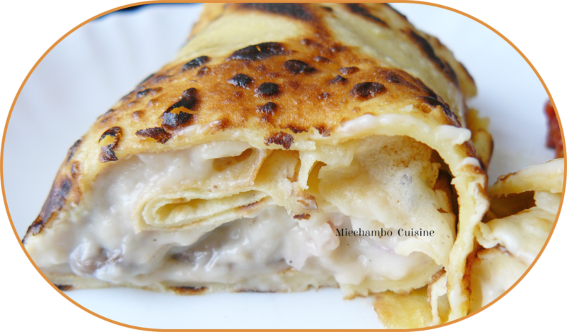 Pannequets au jambon et fromage