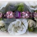 Bracelet violine et rose