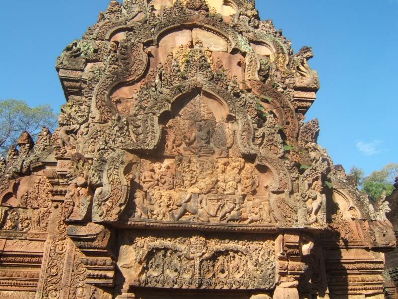 Les belles scilptures de Banteay Srei