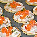 Minis blinis citronnés au saumon mariné