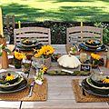 Table tournesols