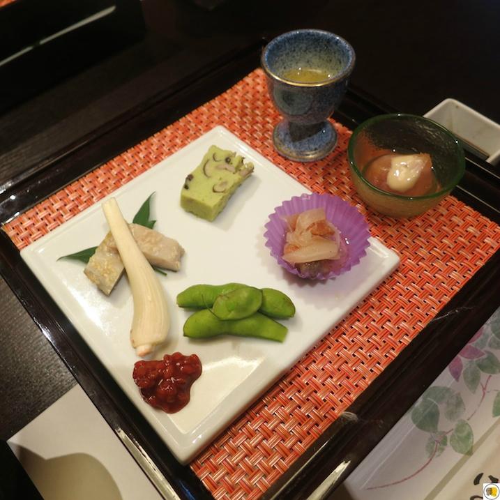 Liqueur de prune japonaise, hors d'oeuvre
