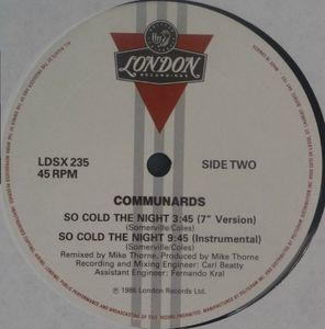 So Cold The Night Canada 12inch side 2
