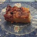 Clafoutis aux pommes et raisins secs au rhum