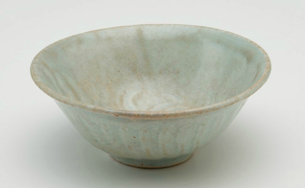 Bowl with carved decoration, Qingbai ware, Yingqing ware, China, Song dynasty (960 - 1279), Jingdezhen ware, Jiangxi Province, stoneware with 'qingbai' glaze, 6.2 x 15.5 cm. Bequest of Eleanor Hinder through her executors 1975. 273.1975. Art Gallery of New