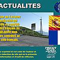 Espagne : des guardia civil contrôlent des véhicules en territoire français