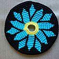 frisbee fleur bleue 1