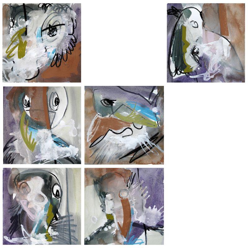 Composition - L'animal KC (90x90 cm)