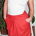 jupe plis rouge t38